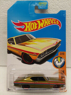 /'69 CHEVELLE SS 396∞2017 Hot Wheels SUPER TREASURE HUNT∞Lime Gold∞FACTORY SET