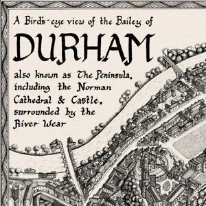 The Durham Bailey Map - Fine Art Prints by Manuscript Maps