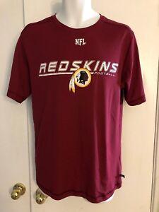 Washington-Redskins-short-sleeve-t-shirt-NFL-football-medium-Indian-polyester-M