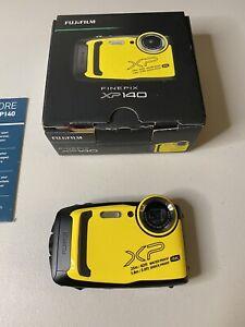 Fujifilm Finepix XP140 Waterproof Digital Camera Yellow, Bundle Set With SD Card