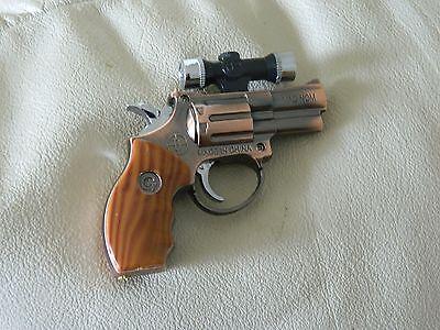 .357 Magnum Gun Revolver Shaped Jet Torch Lighter with USA Legal Laser Site .357