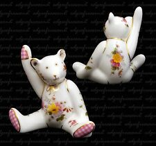 ROYAL CROWN DERBY GIRL WITH POSY MINI BEAR BOXED FREE UK P&P