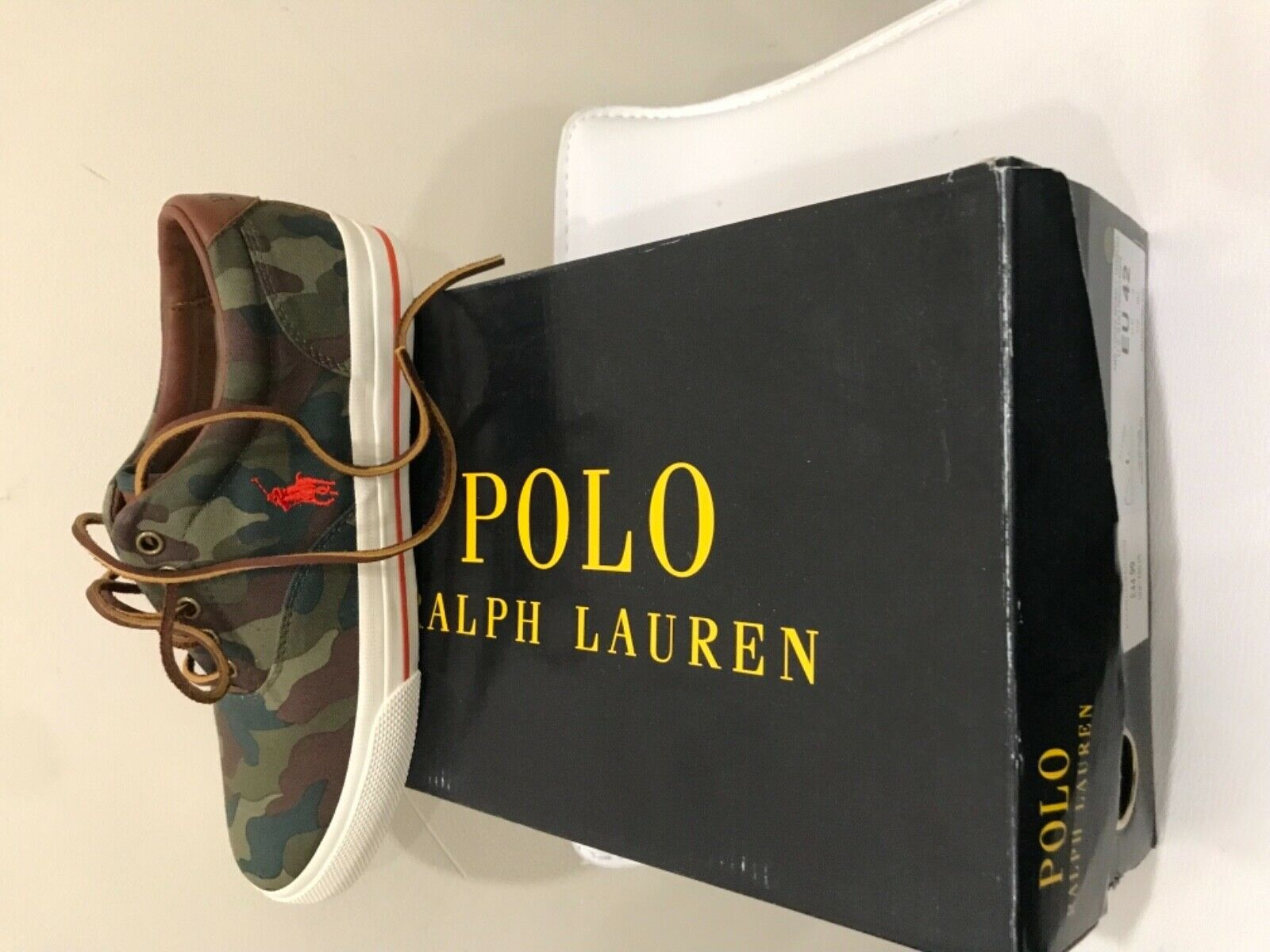 Polo ralph laurel Zapato Vaughn-ne uk8 Novedad verde 10