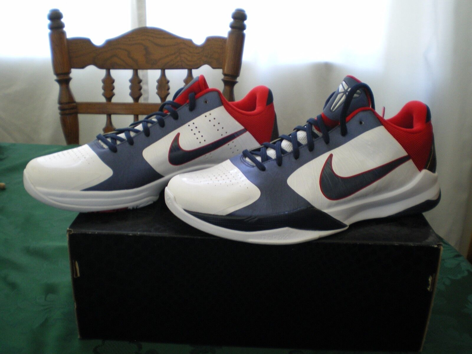 Nike Zoom Kobe V  Team USA - Olympics  color Red White Obsidian bluee, size 12