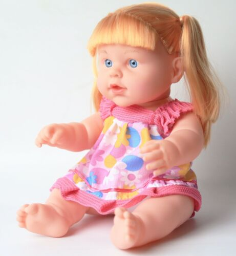 Pretend Play New Born Baby Girl Dolls 13 inch Set of 2