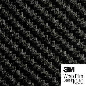 Pellicola per auto fibra al carbonio 3D 100 x 152 cm colore: nero 3M Scotchprint Wrap Film Series 1080