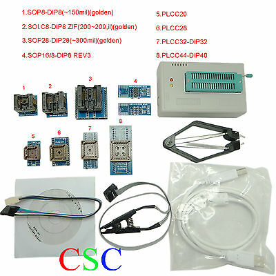 TL866A High Speed Programmer USB IC EPROM EEPROM FLASH BIOS Programmer with Clip