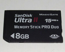 Sandisk 8GB Sony PSP Memory Stick Pro Duo Memory Card Camera Memory Ultra II
