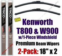 Wipers 2-pack Premium Fit 2007+ Kenworth T800 / W900 W/1-piece Glass 19180x2
