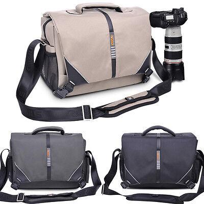 Men Women Waterproof DSLR SLR Camera Shoulder Bag Padded For Canon Nikon Sony