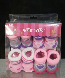 New Wee Tots Wild By Nature Booties 4 Count Sz 0-12m 0-12 Months Nip Socks & Tights Clothing, Shoes & Accessories