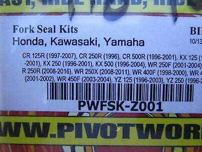 1998-2000 Yamaha WR 400F Dirt Bike Pivot Works Fork Seal Kit