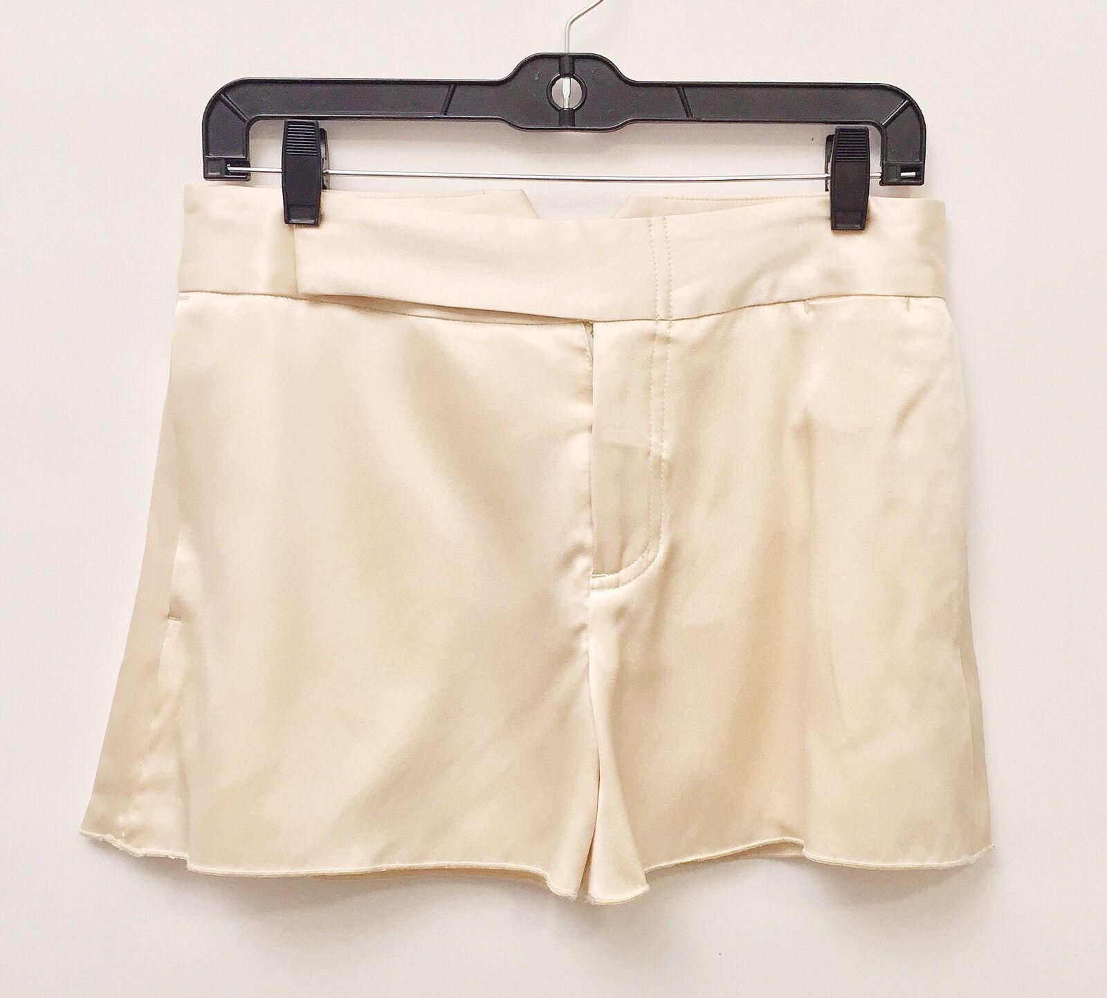 Chris Benz Small Ladies Silk Cream Shorts And Halter Top