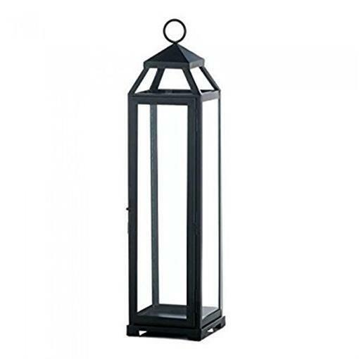 Gallery of Light 10017655 20 in. Lean & Sleek Candle Lantern - Extra Large