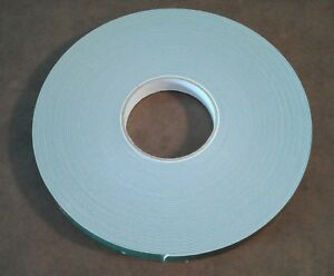 New 36 Foot Roll 3//4 Inch Wide 3M Acrylic Foam Heavy-Duty Double-Sided Tape