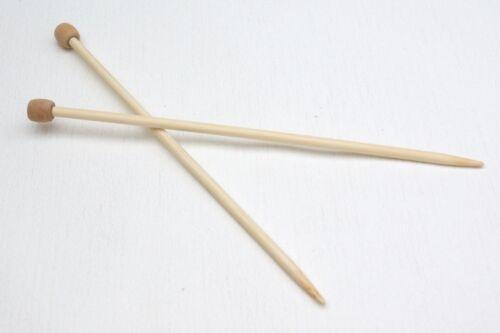 BAMBOO knitting Needles singolo fatto 23cm o 34 cm lunghezza 1 Paio