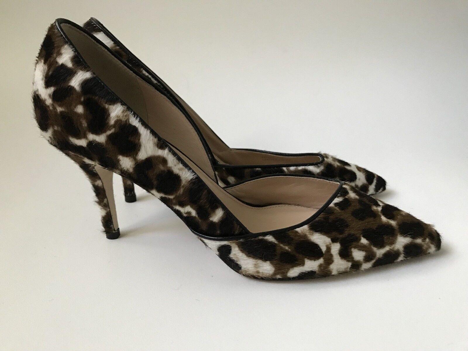 JCrew Collection Colette Calf Hair D'Orsay pumps e0776 $378 $378 e0776  sienna black Sz 7 677228