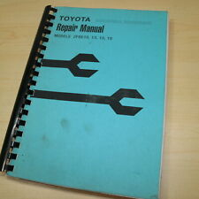 Toyota 2fbe10 2fbe13 2fbe15 2fbe18 Electric Forklift Service Repair Shop Manual