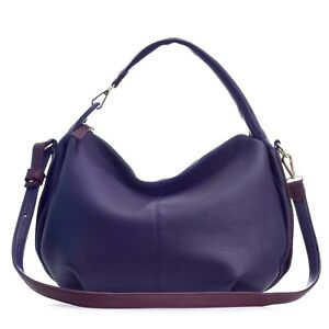 Bruno-Rossi-Italian-Made-Violet-Extra-Soft-Deerskin-Leather-Small-Hobo-bag