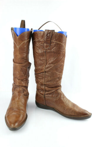Kickers Leather Boots Brown T 39 Very Good Conditi