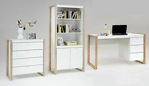 Genial Image Is Loading Frame Contemporary Office Furniture White And Oak Desk