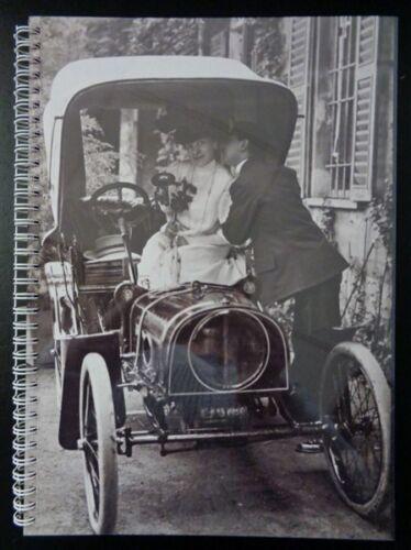 A4 WEDDING VINTAGE CAR WIRO ARTIST SCRAPBOOK 40SHTS BLACK OR COLOUR SUGAR PAPER