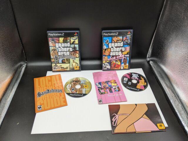 GTA Grand Theft Auto Lot PS2 - Vice City, San Andreas - PlayStation 2 Clean
