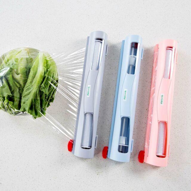 Handy Plastic Kitchen Foil And Cling Film Wrap Dispenser Cutter Storage HolderSP