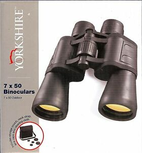 NEW-YORKSHIRE-7X50-OUTDOOR-BINOCULARS-WITH-POUCH-NECKSTRAP-LENS-CAPS-CLOTH
