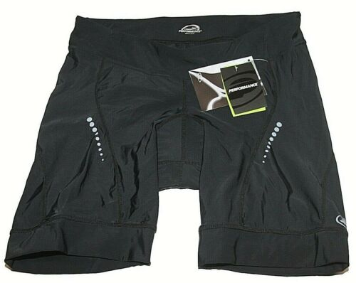 New Performance 113535 Women/'s Elite Black Padded Cycling Shorts Sz Sm NWT $60