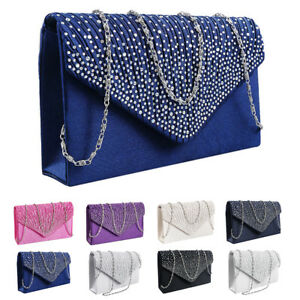 Women-Crystal-Evening-Party-Prom-Wedding-Clutch-Handbag-Shoulder-Chain-Bag