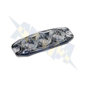 Amber LED Autolamps LPR103DVA Low Profile 3-LED Warning Lamp 12//24V