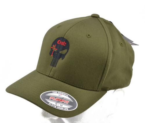 "embroidered /""Craft/"" Olive Flexfit® brand Cappello Cap ricamato"