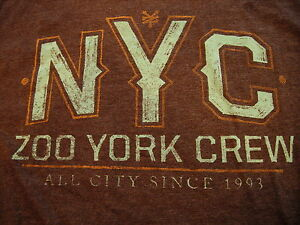 Men-039-s-NYC-Zoo-York-Crew-T-Shirt-Size-Large-New-Without-Tags