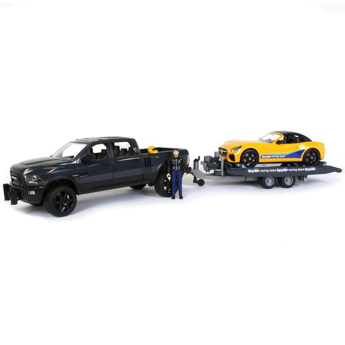 1 16 Rapid attaque Moto 2500 Power Wagon  & Roadster Bruder racing team by Bruder 02504  mode