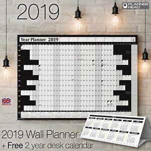 Grafico-de-pared-Planificador-Anual-2019-ano-calendario-anual-con-calendario-de-Mesa-de-2yr-libre