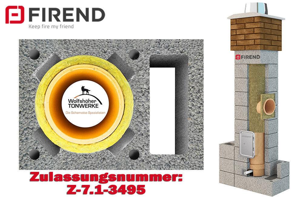 Schornsteinbausatz 1xZ, h 10,6 m, ø 180 mm,  Keramik, Esse, Massiv, (50x36) A
