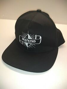 b0652893c6325d Diamond Supply Co 2 Satin Panel Hat Snapback Cap Mens Black | eBay