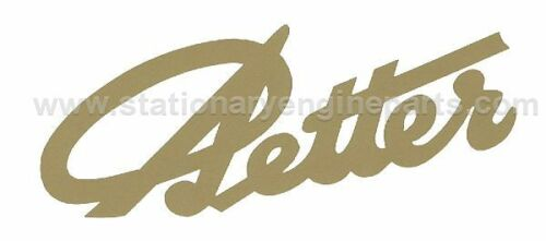 Small Petter Stationary Engine Gold Script Signature Transfer Decal Pair