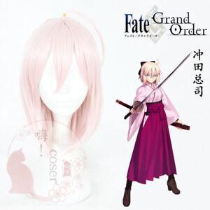 Styled Fate Grand Order FGO Okita Souji Majin Alter Cosplay Hair Wig Game