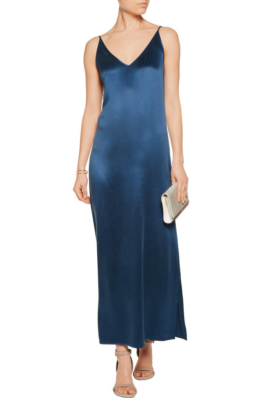 EQUIPMENT Racquel Silk Slip Dress in Majolica bluee Size XS