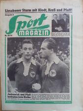 SPORT MAGAZIN KICKER 50A- 13.12 1954 * Juskowiak Pfaff KSC-Augsburg 3:0 RW Essen
