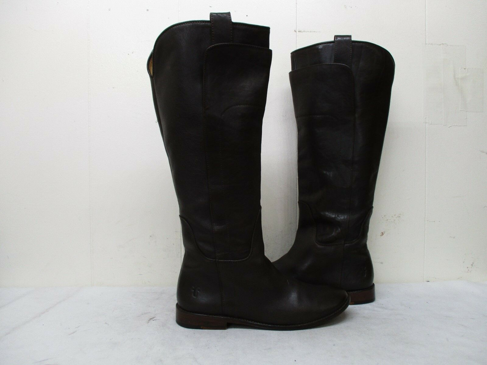 Frye Brown Leather Knee High Riding Boots Womens Size 8 B Style 77535