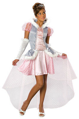 Posh Princess Pink Gown Runway Model Fantasy Dress Up Halloween Child Costume