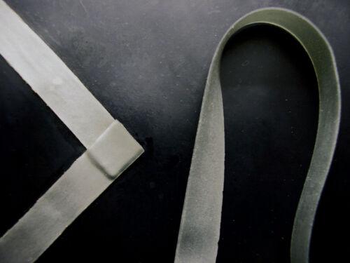 Silber Metallisch Zwei 5mm x200cm Latex Gummi Zierleisten .50mm Stärke