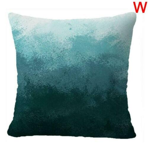 """Printing Teal Blue White Double Sided Decorative Throw Pillow Case 18x18/"""""""