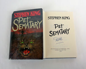Stephen-King-Signed-Autograph-Pet-Sematary-1st-Edition-1st-Printing-Y38-HC-Book