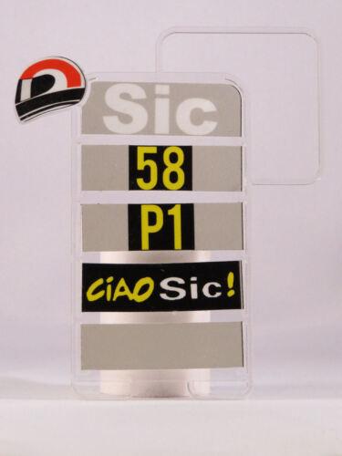 1//12 Marco Simoncelli Chart Pitboards Banner Box Motogp Valencia 2011 Ciao Sic