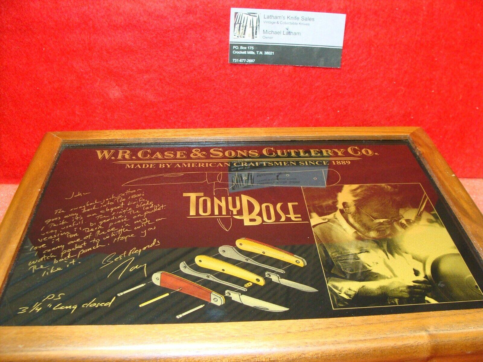 CASE XX USA 2008 TONY BOSE COMMEMORATIVE 3 KNIFE SET TB62117,TB6339,TB62110
