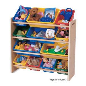 Details About Tot Tutors Primary Colors Super Sized Organizer Kids Playroom  Storage Bin Shelf